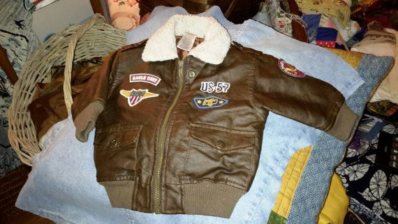 Baby Bomber Jacket Barely Vintage Too Cute by AntiquesandVaria