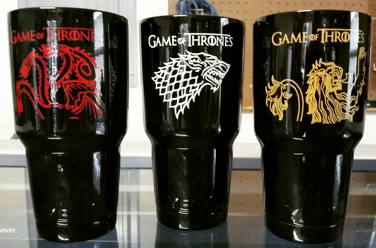 Game Of Thrones Yeti Rambler Tumbler Cups Glitter Cups