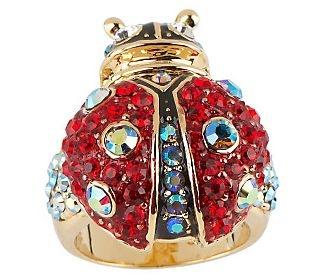 Kirks Folly Lucky Ladybug Ring