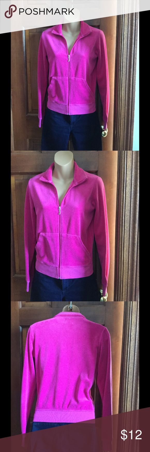 JUICY COUTURE VELOUR JACKET Hot pink velour jacket in good used condition without any rips or stains. Juicy Couture Jackets & Coats
