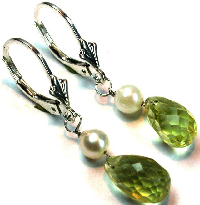 CUTE LEMON QUARTZ SILVER EARRINGS 5.00 CTS GTJA186
