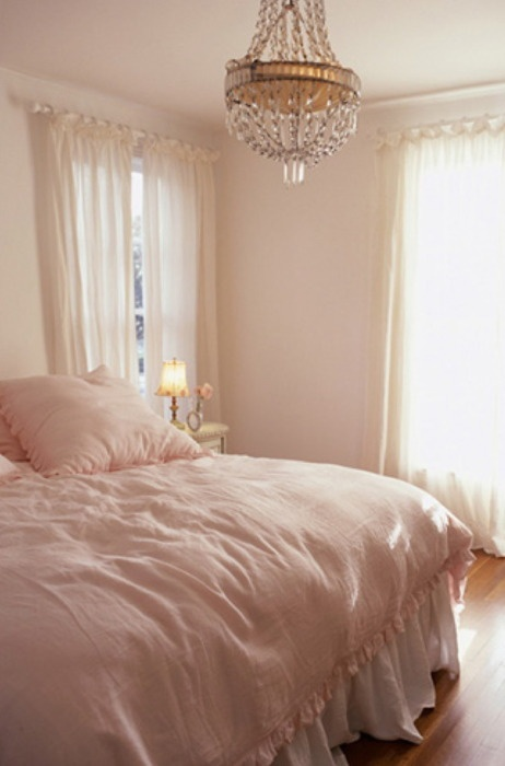 Soft Pink + Chandelier. Itu0027s A Very Great Pleasure To Decorate A Bedroom  That No