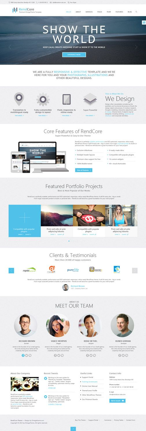 OT Rendcore is a clean, modern design multipurpose Joomla template can be  used for a business, corporate, portfolio, blog or any type of professional  and ...