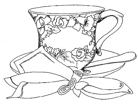 simple coloring pages of tea cups | Vintage Teapot Coloring Pages Sketch Coloring Page