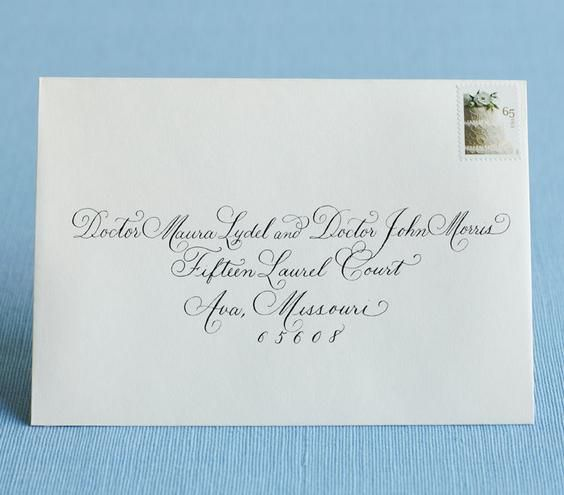 Your ultimate go-to guide on properly addressing wedding envelopes.