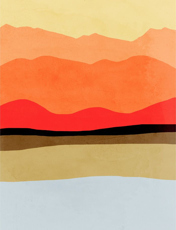 mountains abstract landscape | art print | eve sand