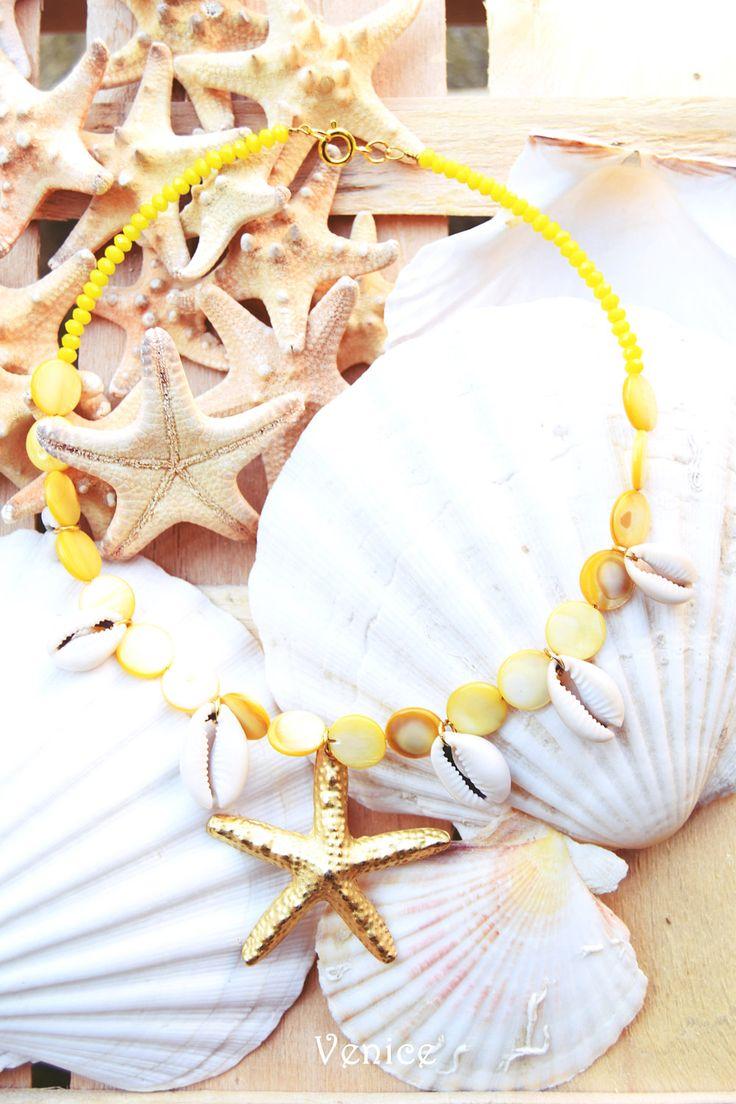Collana stella marina/collana ciondolo/collana cristalli/collana conchiglie/collana etnica/collana boho/gioielli etnici/estate/regalo amica di VeniceStyle su Etsy
