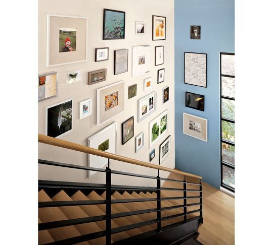 Stair: Ideas, Wall Decor, Galleries, Photo Wall, Gallery Walls, Pottery Barn