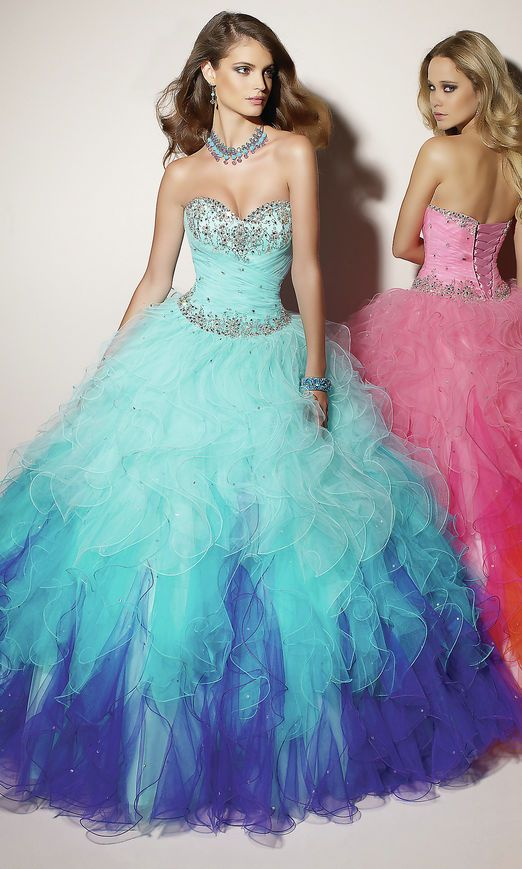Ball Gown Sequin Bodice Long Strapless Sweetheart Natural Lace Up Blue Prom Dress