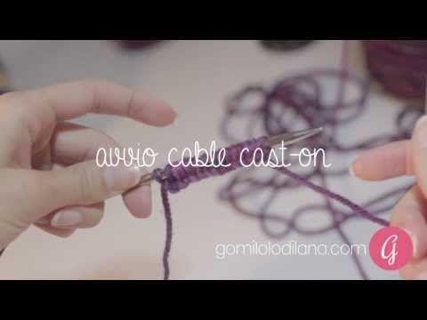 Avvio elastico - Cable cast-on - lavoro a maglia - YouTube