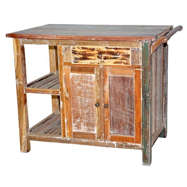 Rustic Kitchen Island Bench