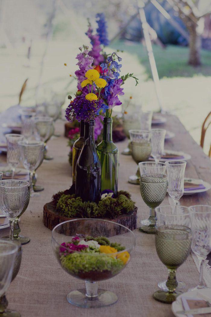 Centro de mesa casamento diurno