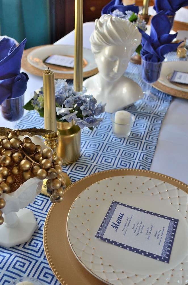 The gallery for greek party decoration ideas for Wish decoration