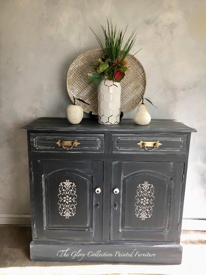 Surprising Buffet Painted In Graphite With White Glaze And White Wax Download Free Architecture Designs Embacsunscenecom