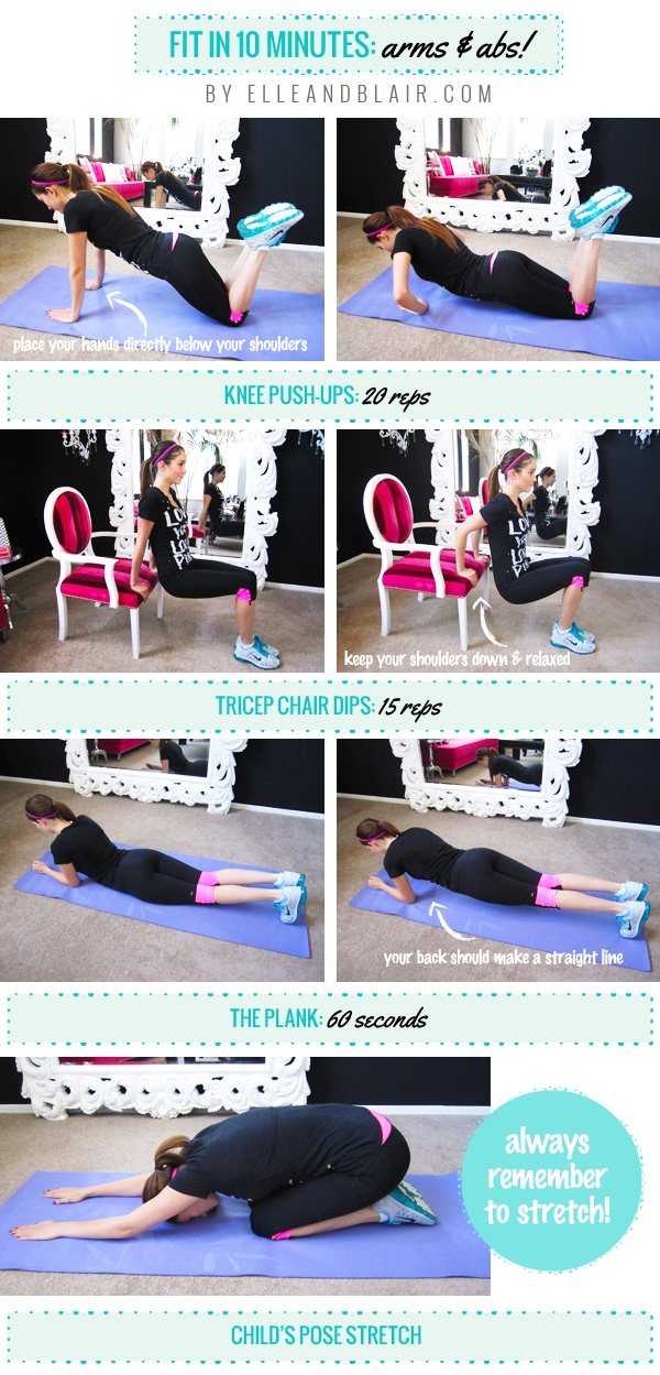 Blair's Fit in 10 Minutes Arms + Abs Routine!