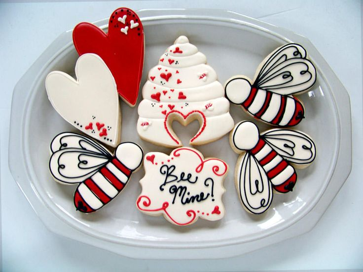 Valentine Bees | Cookie Connection