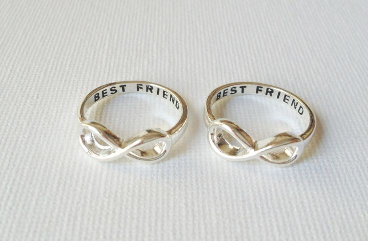 Set of 2 Best friend infinity rings infinity by LaLaSilverJewelry, $16.80