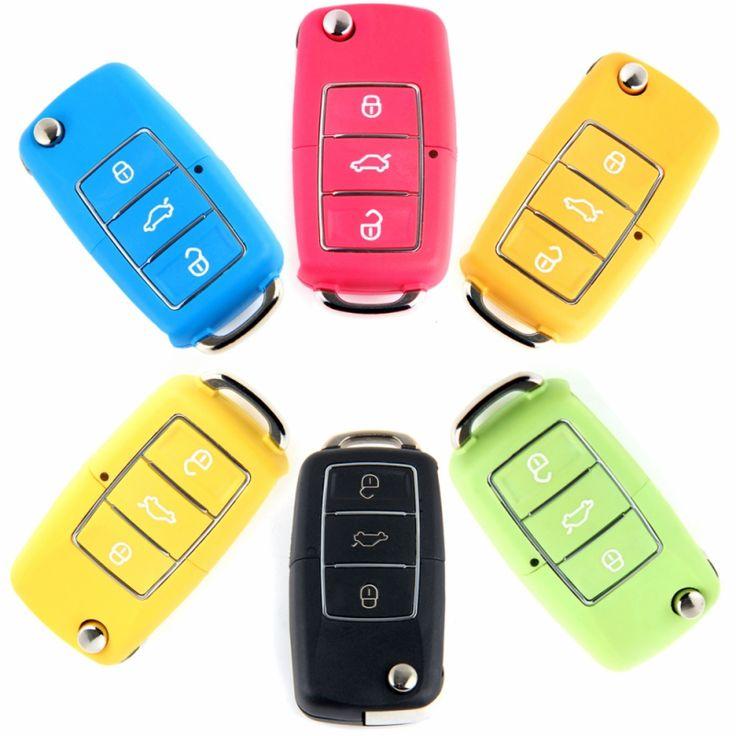2016 Nowy Kontroler Fob 3 Przycisk Remote Key Shell Folding skrzynki Pokrywy Skrzynka dla VW Volkswagen Bora Beetle Golf Polo Passat