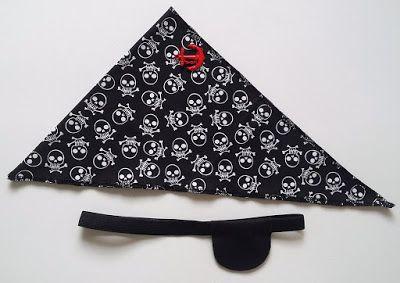Maria Girafa Ateliê: Acessórios - Bandana e tapa olho de pirata!