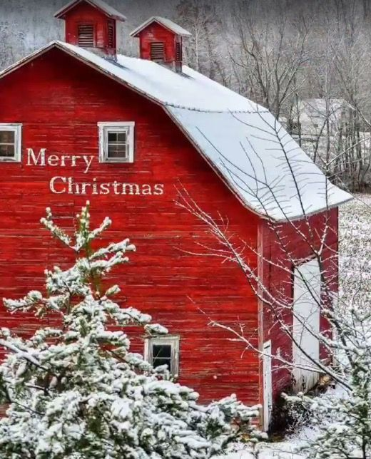 Beautiful....love the snow and barn