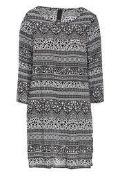 3/4 short sleeve shift dress