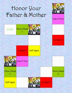 4th Commandment Game-  Honor Your Father & Mother