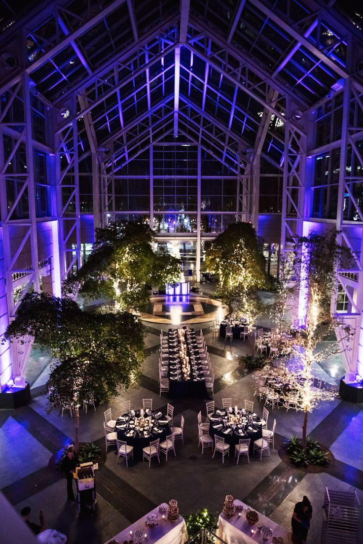 A stunning indoor atrium wedding venue located in