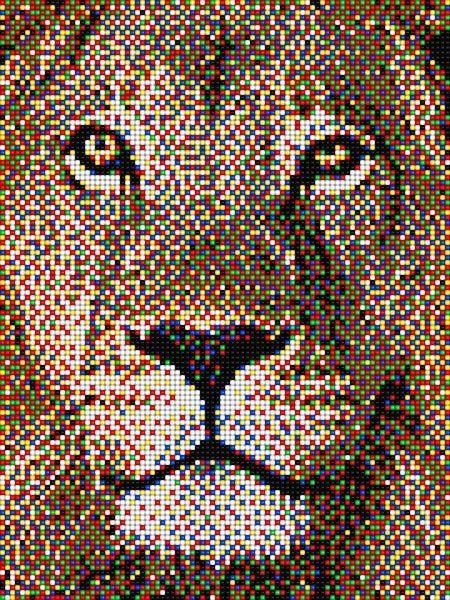 Leone Pixel Art #lion #pixelart #quercetti | Pixel Art ...