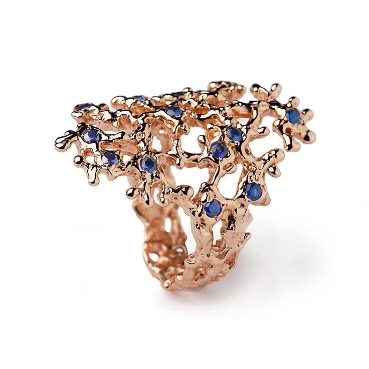 SEA SPRAY rosa oro anello zaffiro, anello di zaffiro blu, 14k oro rosa anello, blu zaffiro anello di fidanzamento, di arosha su Etsy https://www.etsy.com/it/listing/233953881/sea-spray-rosa-oro-anello-zaffiro-anello