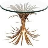 Wheat Gold Antique End Table Fashion N You