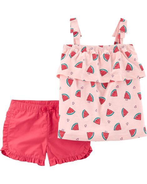 9bc242b7b 2-Piece Watermelon Tank & Twill Short Set from Carters.com. Shop clothing &  accessories from a trusted name in kids, toddlers, and baby clothes.
