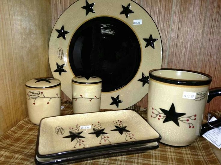 Primitive Kitchen Primitive Country Canisters Frugal Dinnerware Primitives Dinner Ware Kitchen Rustic Boxes & 23 best Primitive and country Stuff images on Pinterest | Green ...