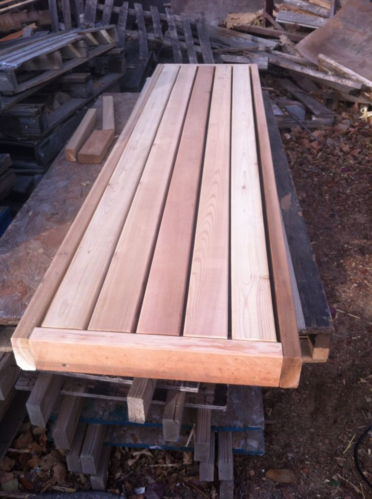 I've built over a dozen sauna benches, no, many more than that. I've sat on a bunch more. Do you drive yourself crazy sitting on a sauna bench trying to figure out how it was built? W…