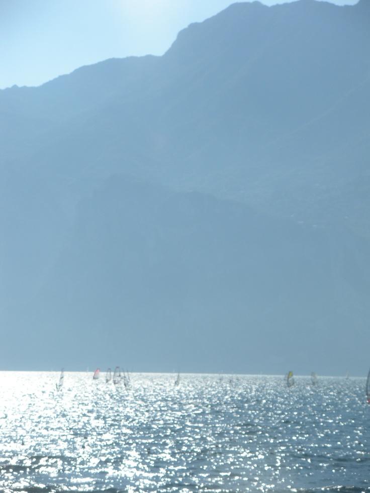 Windsurfers on Lake Garda