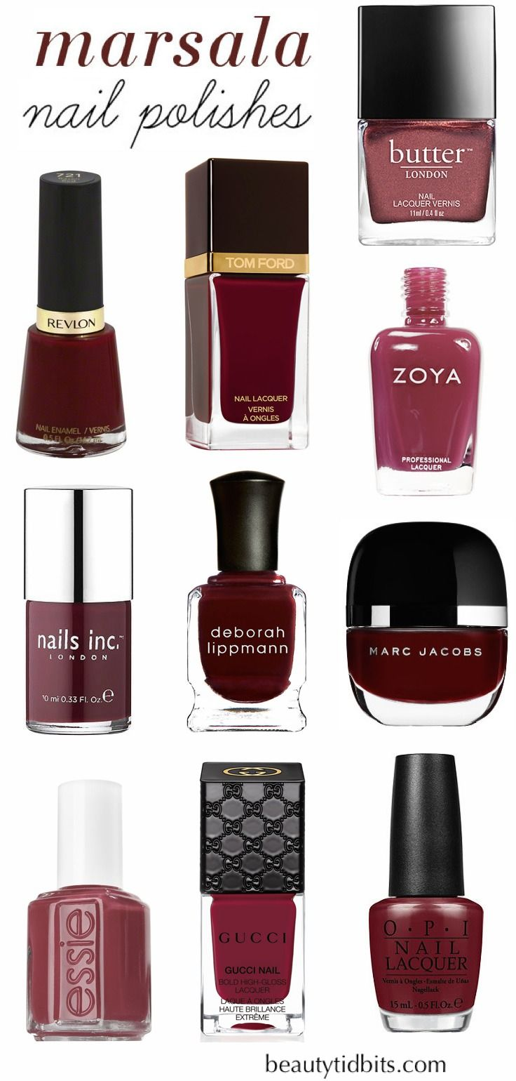 Pantone color of the year 2015 is Marsala! Get a jump start on this color trend with these gorgeous Marsala nail polish picks!