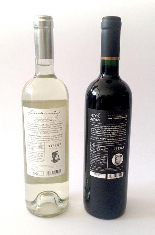 """Ilustraciones que realicé para Vino """"Tierra de Poetas"""". Vino de Chileno."""