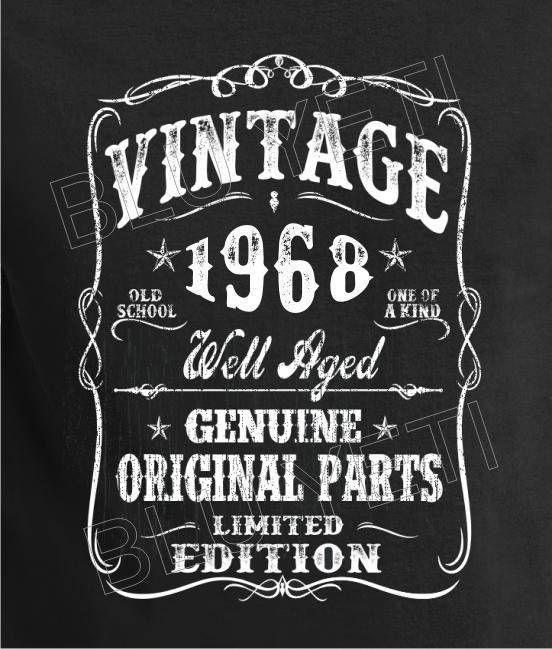 Vintage 1968 Birthday Gift