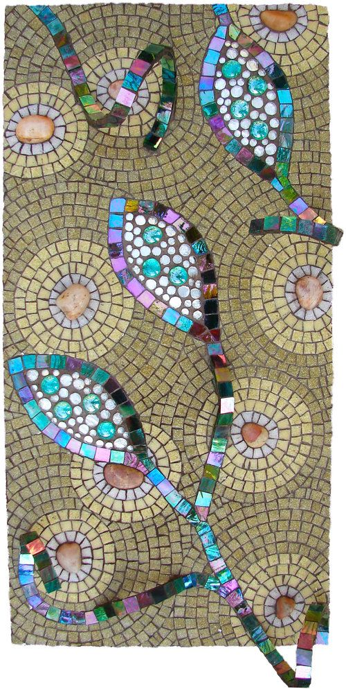 Pods Mosaic by mosaic artist Dyanne Williams