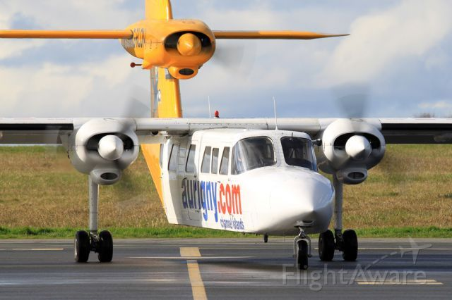 Britten-Norman Trislander. Want to fly on one of these someday. FlightAware ✈ Photo of G-RLON