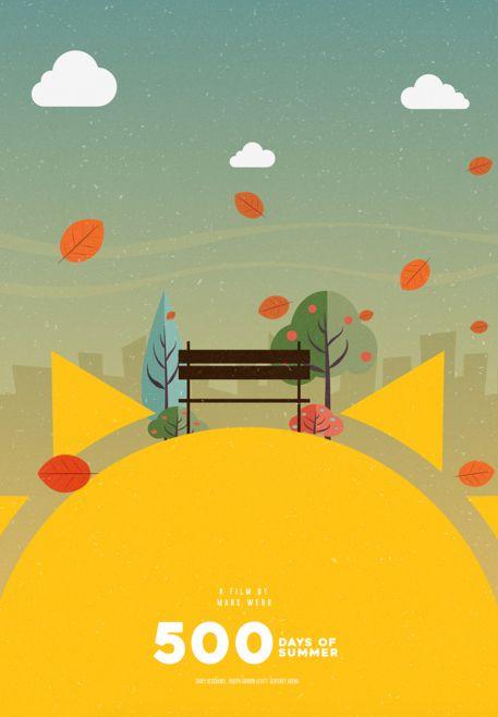 (500) Days of Summer (2009) ~ Minimal Movie Poster by Viraj Nemlekar #amusementphile