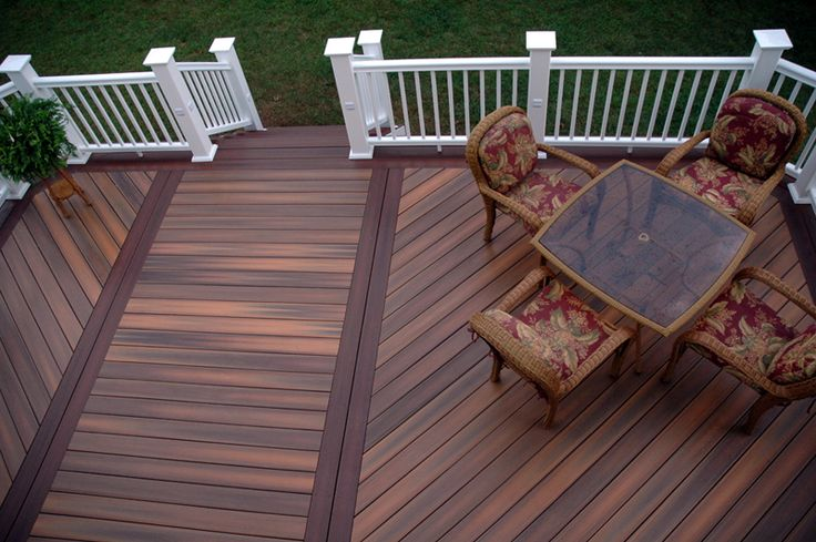 138 best composite low maintenance deck ideas images on pinterest for Exterior wood decking materials