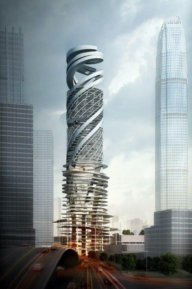 La Torre del parque de coches, Hong Kong, China