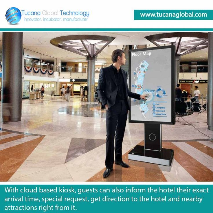 With cloud based #kiosk, #guests can also #inform the #hotel their exact arrival time, special #request, get #direction to the hotel and nearby #attractions right from it. #TucanaGlobalTechnology #Manufacturer #HongKong
