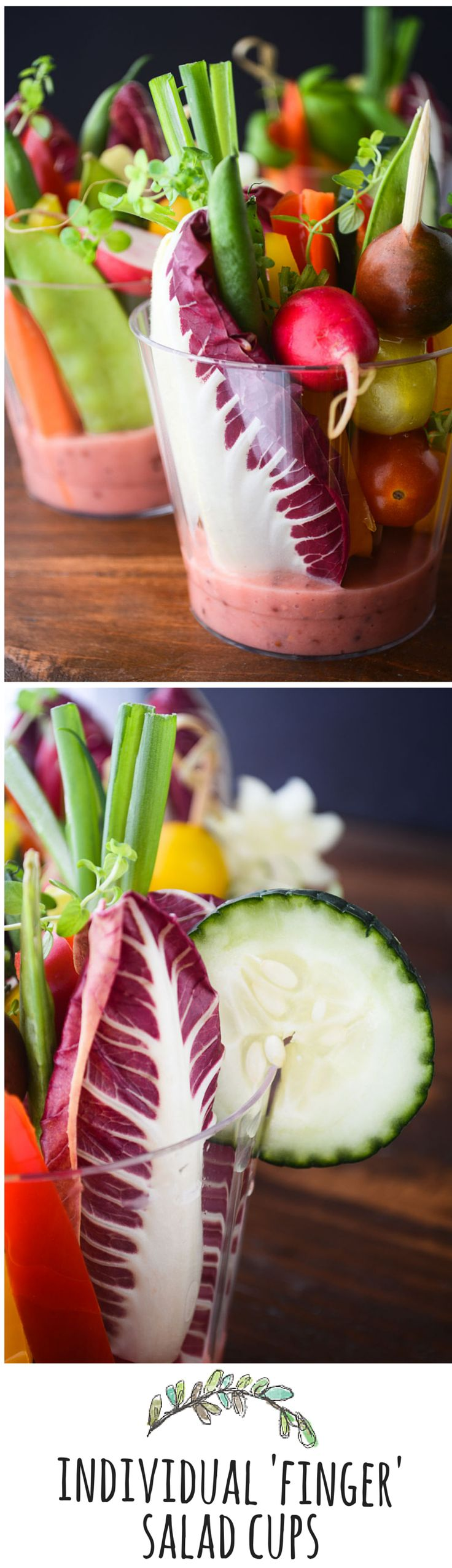 Adorable way to serve salad to a crowd!
