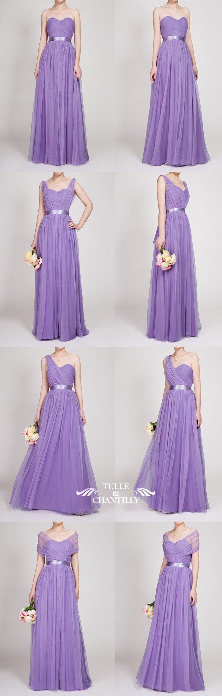 long purple convertible bridesmaid dresses and gowns