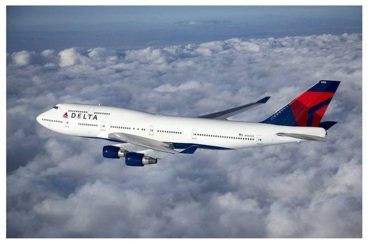 delta airlines   Delta Airlines Boeing 747-400