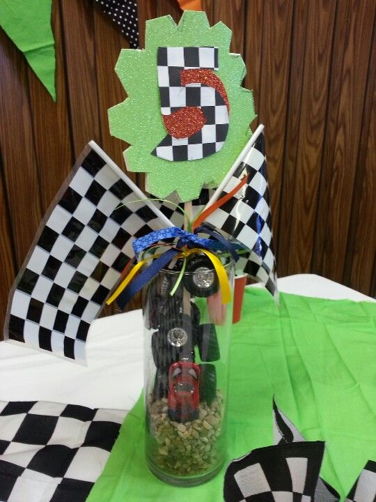 Center pieces | Monster truck party | Cars trucks birthday ...
