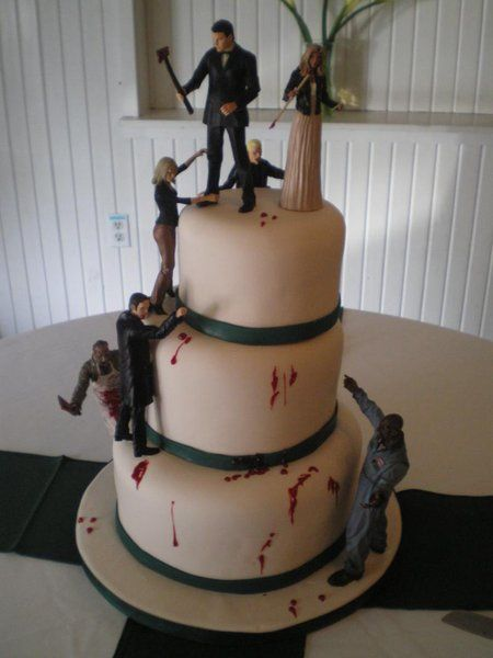 Solo para fans: Colección de tartas zombis para bodas