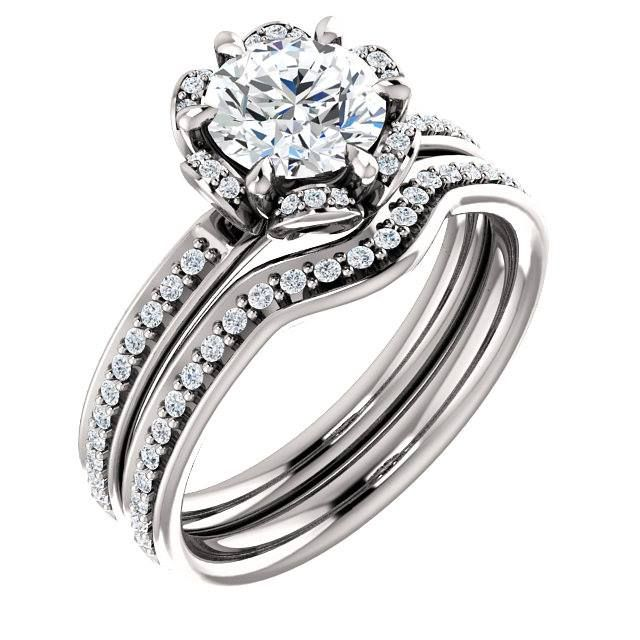 Please share / like / comment - Platinum Wedding Rings - manufactured in the USA - Exceptional Prices.  Please also like /share our FB Page: https://www.facebook.com/platinumweddingrings/ This Platinum Engagement Ring Set is made to order and will be available to place your order at: https://www.PlatinumWeddingRings.com  We also do complete Custom one of a kind designs - please contact us if interested.  #CustomJewelers #platinumweddingrings #CustomJewelry #PlatinumRings #MadeInUSA…