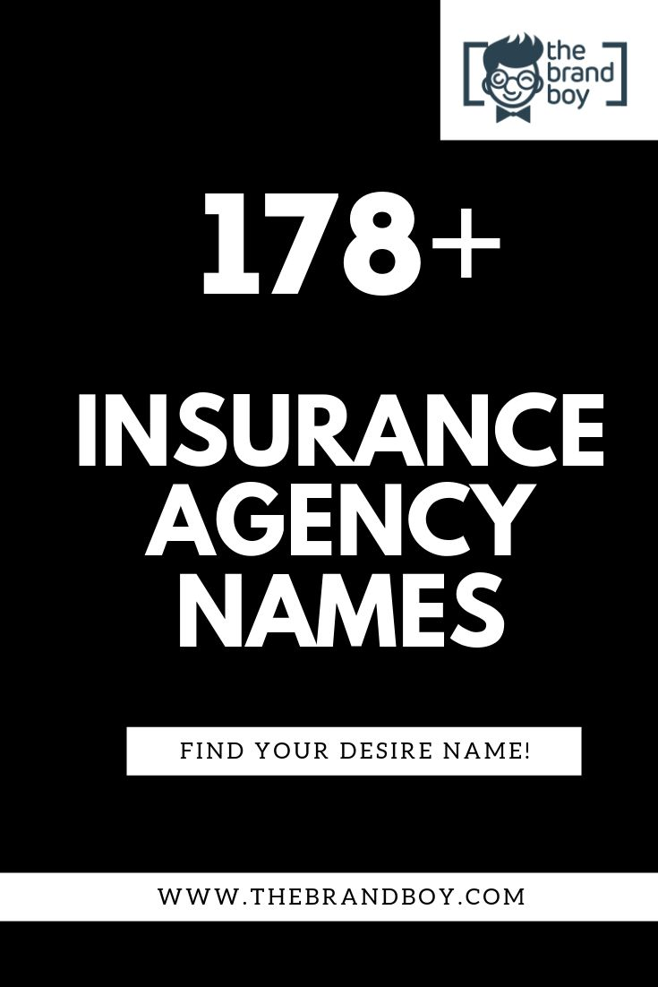 478+ Best Insurance Agency Names ( Video+ infographic ...